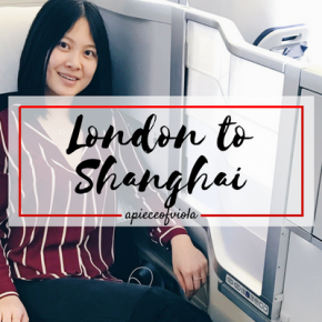 My flight: London to Shanghai
